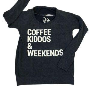 Chaser Coffee Kiddos & Weekends Cutout Sweatshirt